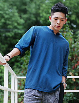 Casual slit neck t-shirts