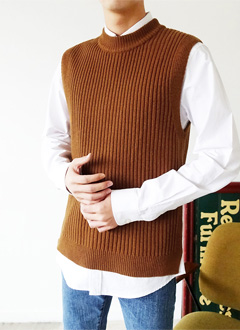 Basic Color Knit Vest