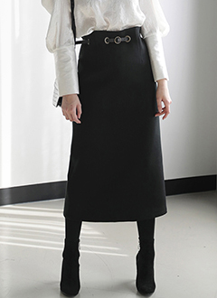 Long Skirt With Waist Belt Set